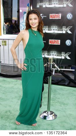 Natassia Malthe at the Los Angeles premiere of 'The Incredible Hulk' held at the Universal CityWalk in Hollywood, USA on June 8, 2008.