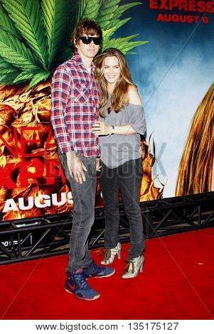 Christopher Jarecki and Alicia Silverstone at the World premiere of 'Pineapple Express' held at the Mann Village Theater in Westwood, USA on July 31, 2008.