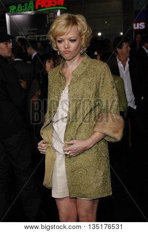 Emily Bergl at the Los Angeles premiere of 'Faster' held at the Grauman's Chinese Theater in Hollywood, USA on November 22, 2010.
