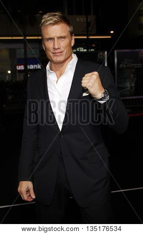 Dolph Lundgren at the Los Angeles premiere of 'Faster' held at the Grauman's Chinese Theater in Hollywood, USA on November 22, 2010.