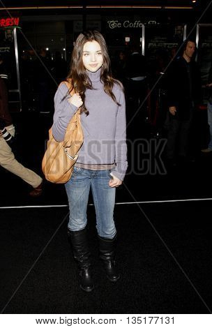 India Eisley at the Los Angeles premiere of 'Faster' held at the Grauman's Chinese Theater in Hollywood, USA on November 22, 2010.