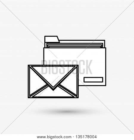 email concept with icon design, vector illustration 10 eps graphic.
