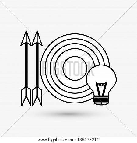 target concept with icon design, vector illustration 10 eps graphic.