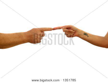 Finger berühren