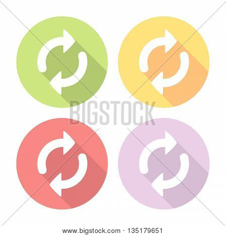 Refresh Arrows Reload Symbol Flat Icons Set