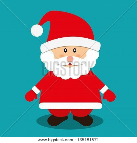 Merry christmas card and icons design, vector illustration.