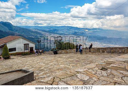 People On Monserrate Mountain