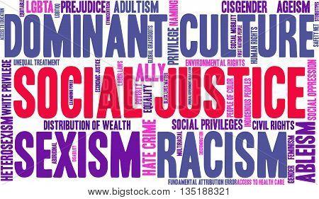 Social Justice Word Cloud