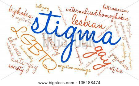 Stigma word cloud on a white background.