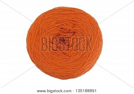 Yarn ball isolated on white background as abstract