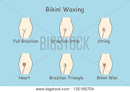 all kinds of bikini waxing set great for your design