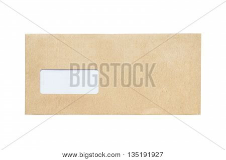 The front envelope isolated on a white background