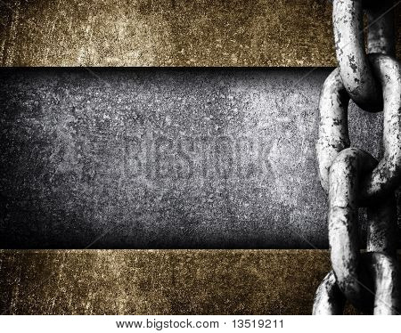 metal plate with heavy chain