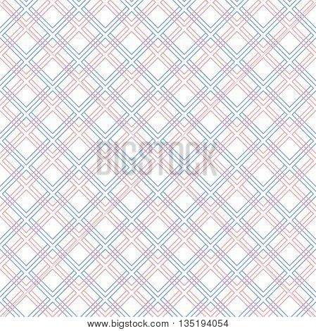 Geometric fine abstract background. Seamless modern pattern with blue and pink diagonal lines