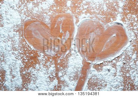 Background of Heart-shaped candy in Valentine day