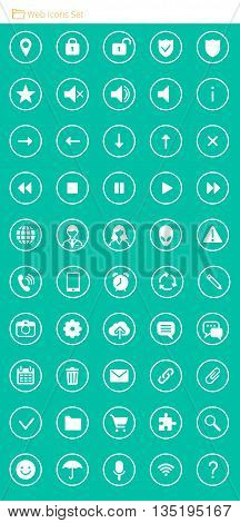 Set of 50 Quality Web Vector Icons