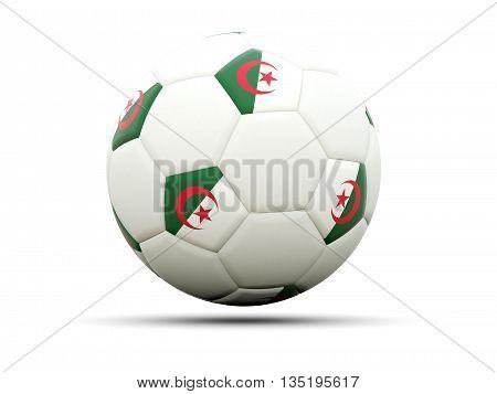 Flag Of Algeria On Football