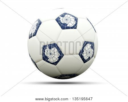 Flag Of Antarctica On Football