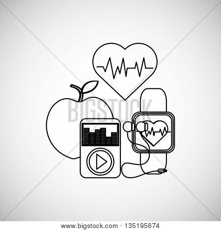 Healthy lifestyle  concept with icon design, vector illustration 10 eps graphic.