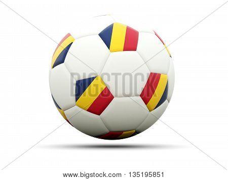 Flag Of Chad On Football