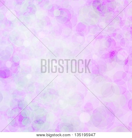 Abstract bokeh. Colorful bokeh. Bright bokeh. Glowing pink-purple bokeh background.