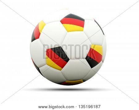 Flag Of Germany On Football