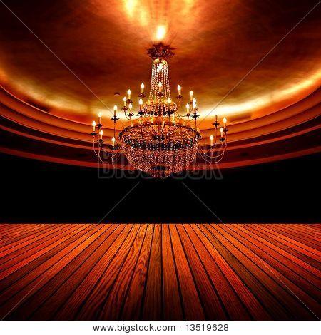 elegante salón de baile