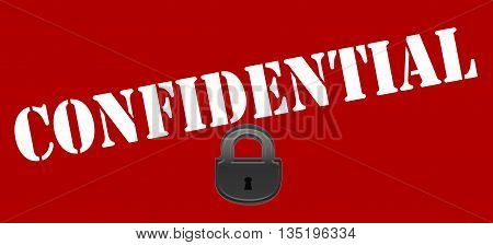 Stamp with word confidential inside vector illustration