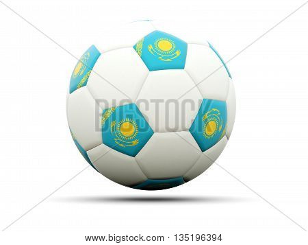 Flag Of Kazakhstan On Football