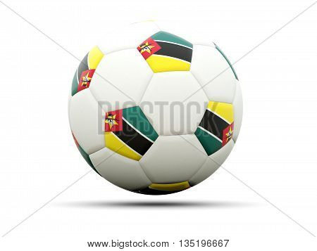 Flag Of Mozambique On Football