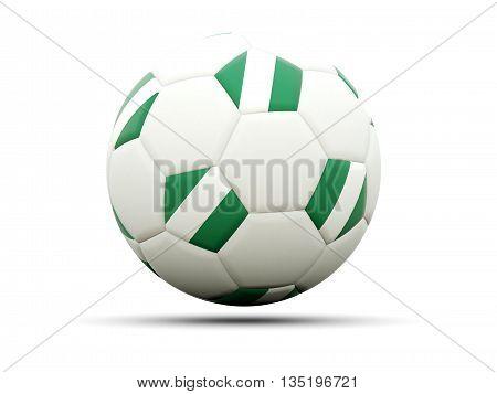 Flag Of Nigeria On Football