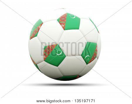 Flag Of Turkmenistan On Football