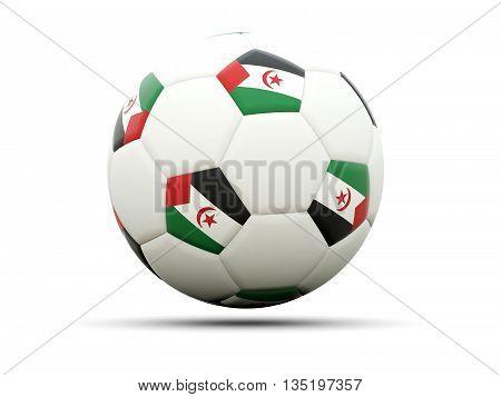 Flag Of Western Sahara On Football