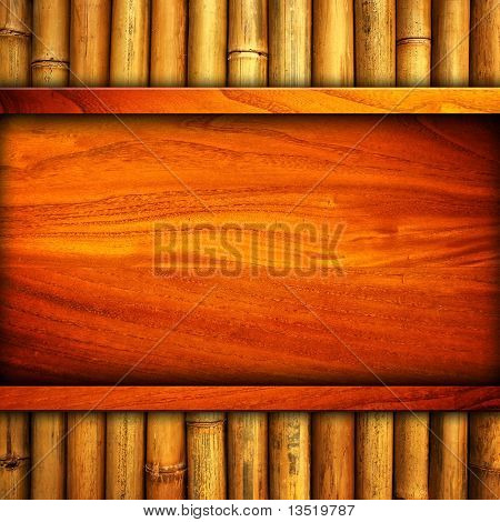 wood template with bamboo