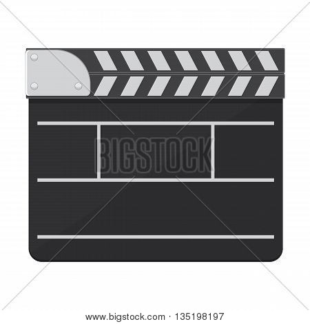 Black clapperboard vector illustration isolated on a white background