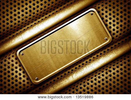 golden sign background