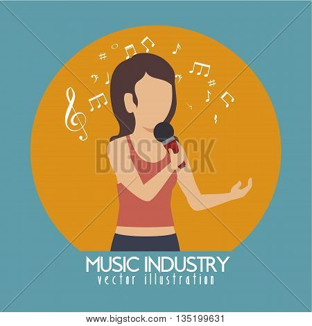 woman singing isolated icon design, vector illustration  graphic