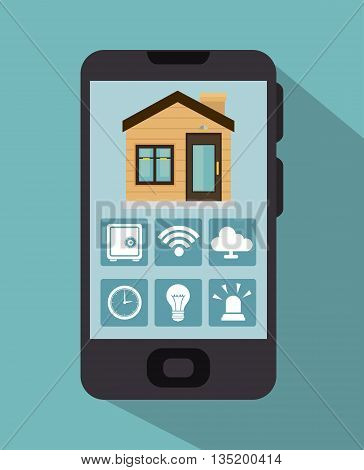 smart house  and its applications isolated icon design, vector illustration  graphic