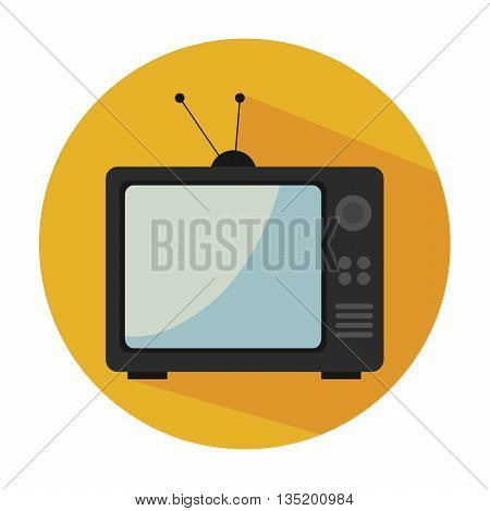 old tv isolated icon design, vector illustration  graphic
