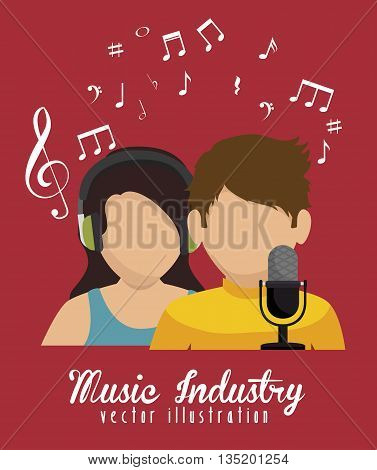 couple  singing isolated icon design, vector illustration  graphic