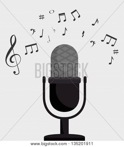 microphone retro isolated icon design, vector illustration  graphic