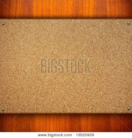 chipboard with wood frame