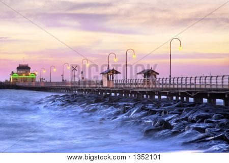 Beautiful Beach At Twilight