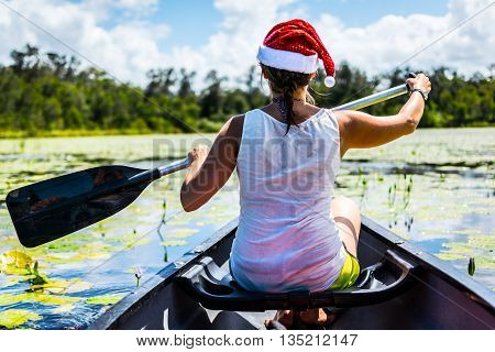 Christmas canoe trip on the Noosa everglades