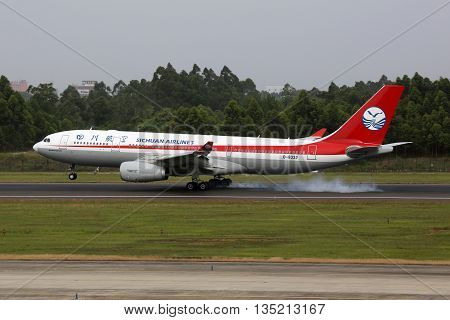 Sichuan Airlines Airbus A330-200 Airplane Chengdu Airport