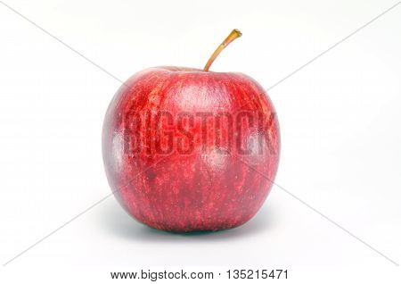 Apple close-up view isolated on white background (Other names are Malus domestica golden apple crab apple )