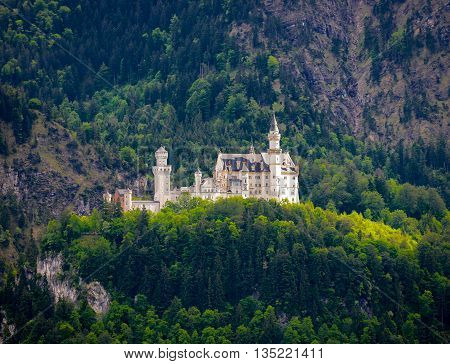 World-famous Neuschwanstein Castle, Near Fussen, Southwest Bavaria, Germany