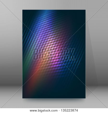 Brochure Cover Template Vertical Format Glowing Background21