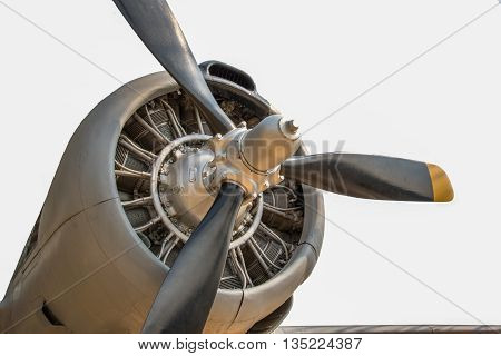 the old piston engine and propeller aircraft
