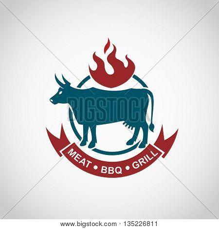restaurant menu beef meat icon